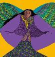 Bibbs Angel of Golden Light Artists Proof Giclee on Paper