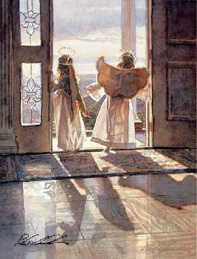 Steve Hanks Angels Out the Door Open Edition on Paper
