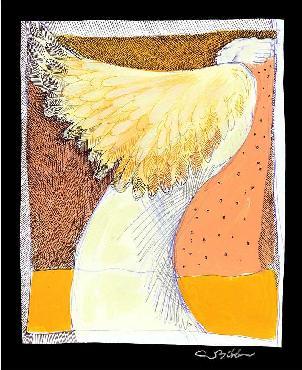 Charles Bibbs Angel Wings Giclee on Paper
