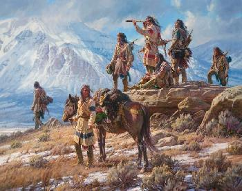 Martin Grelle Apsaalooke Foot Soldiers Open Edition on Paper
