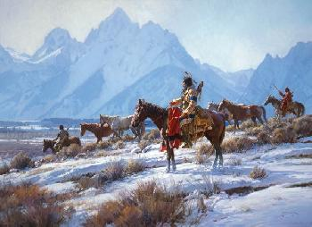 Martin Grelle Apsaalooke Horse Hunters Open Edition on Paper