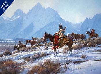 Martin Grelle Apsaalooke Horse Hunters Print #1/150 Giclee on Canvas