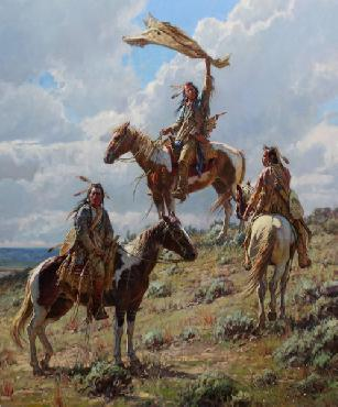 Martin Grelle Apsaalooke Signal Maker Open Edition on Paper