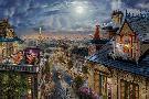 Thomas Kinkade Aristocats - Love Under the Moon