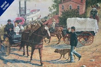 Don Stivers Arrival at Fort Leavenworth Print #1/2500 Giclee on Paper Commemorative Ed