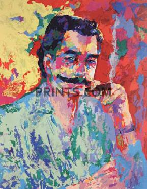 LeRoy Neiman Artist - Leroy Neiman Hand Pulled Serigraph with Matching Book