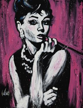 David Garibaldi Audrey Hepburn Fabulous Giclee on Canvas