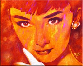 Stephen Fishwick Audrey Too Giclee on Canvas