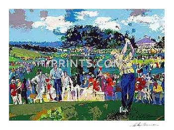 LeRoy Neiman Augusta Golf Hand Signed by LeRoy Neiman Serigraph