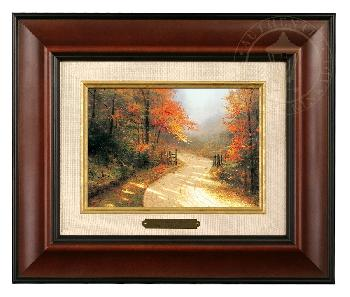 Thomas Kinkade Autumn Lane Brushwork Burl Frame