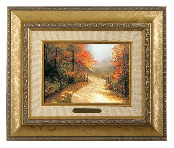 Thomas Kinkade Autumn Lane Brushwork Gold Frame