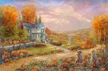 Thomas Kinkade Autumn at Apple Hill Publisher