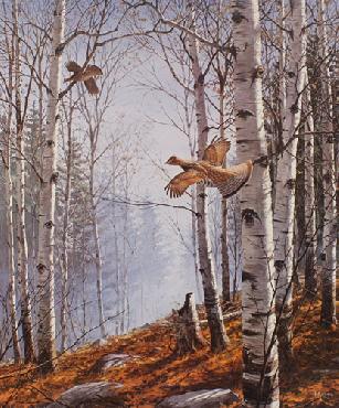 David Maass Autumn Day - Ruffed Grouse