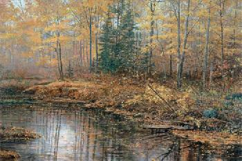 Scott Zoellick Autumn Mist Giclee on Canvas