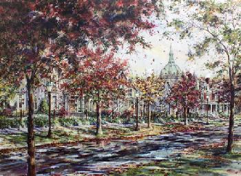 Susan Amidon Autumn on Laurel Avenue Artist