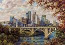 Susan Amidon Autumn Skyline of Minneapolis