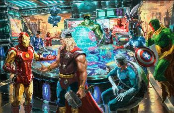 Thomas Kinkade Avengers Estate Edition on Canvas