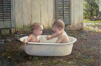 Steve Hanks Baby Bath