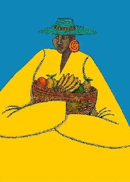 Charles Bibbs Bajan Woman Giclee on Paper