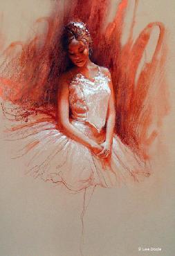 Lee Bogle Ballerina Study Giclee on Paper