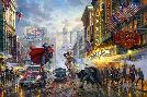 Thomas Kinkade Batman, Superman, Wonder Woman