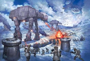 Thomas Kinkade Battle of Hoth - Star Wars Artist