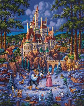 Eric Dowdle Beauty and the Beast Falling in Love SN Canvas
