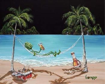 Michael Godard Beer Thirty Giclee on Canvas