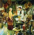 Kunstler Beginnings in New Salem - Abraham Lincoln Artists Proof Classic Edition Giclee on Canvas