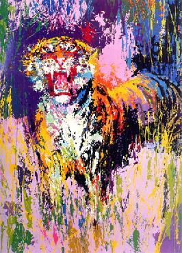 LeRoy Neiman Bengal Tiger Hand Pulled Serigraph