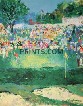 LeRoy Neiman Bethpage Black Course 2002 US Open Hand Pulled Serigraph