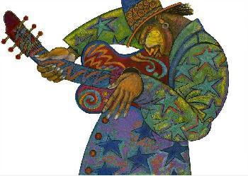 Charles Bibbs Big Man Guitar Hand Enhanced