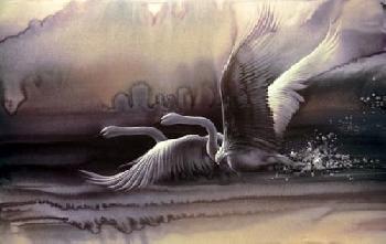 Lee Bogle Birds in Flight Giclee on Paper