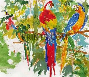 LeRoy Neiman Birds of Paradise Hand Pulled Serigraph
