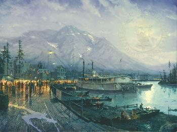 Thomas Kinkade Birth of a City SN Paper