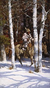Howard Terpning Blackfeet Among the Aspen