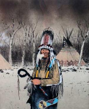 Michael Coleman Blackfeet Standup Bonnet Artist