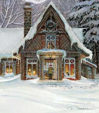 Trisha Romance Blessings of Home Giclee on Canvas