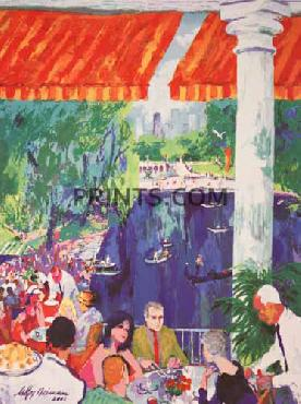 LeRoy Neiman Boat House Central Park Hand Pulled Serigraph