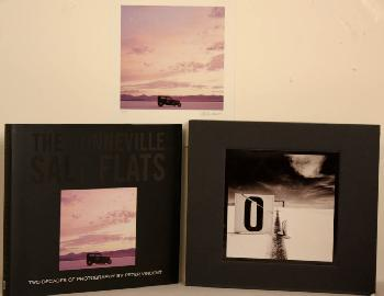 Peter Vincent Bonneville Salt Flats Twenty Years of Photography Book With Fine Art Print of Front Cover