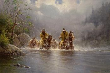 G. Harvey Boot Top Crossing Giclee on Canvas