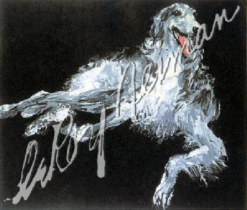 Leroy Neiman Borzoi Hand Pulled Serigraph