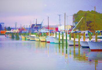 Coleman Sellers The Bows at Kent Narrows 1 Open Edition Giclee on Paper