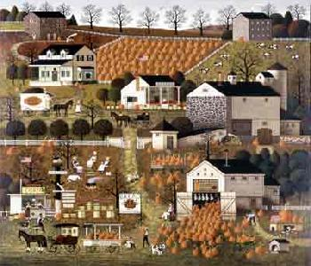 Charles Wysocki Bread and Butter Farms Open Edition Giclee on Canvas