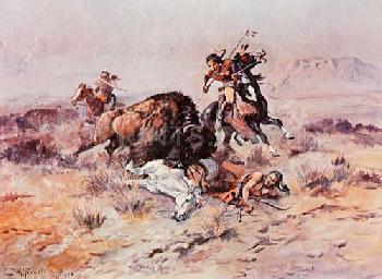 Charles Russell Buffalo Hunt
