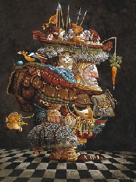 James Christensen Burden Of The Responsible Man Giclee on Canvas