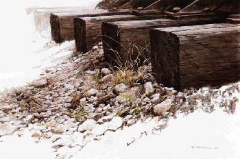 Robert Bateman By the Tracks - Killdeer