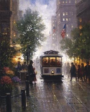 G. Harvey California Cable Cars - San Francisco Canvas