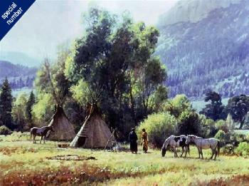 Martin Grelle Camp Talk Print #1/95 Giclee on Canvas