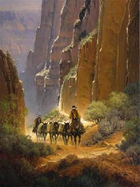 G. Harvey Canyon Trails Serigraph